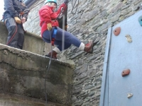 Freda\'s practice abseil