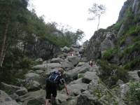 Our climb to top of Pulpit Rock