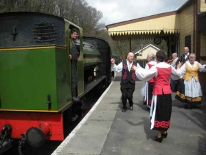 Dancing for the Gwili Railway May 2013
