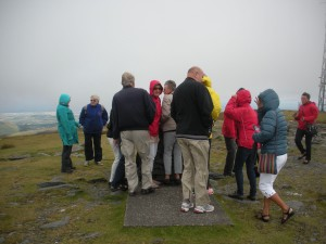 Visby at top of Snaefell 2013