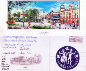 Card from Sunnerbogillet showing Ljungby