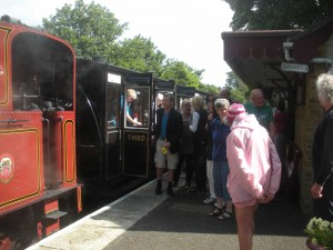 Arriving in Ballasalla by Steam Train